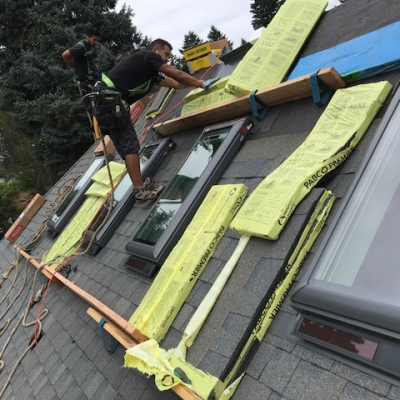 4 solar powered opening skylights with solar powered blinds 2 - Warner Roofing