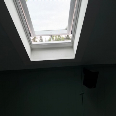 4 solar powered opening skylights with solar powered blinds 7 - Warner Roofing.jpg