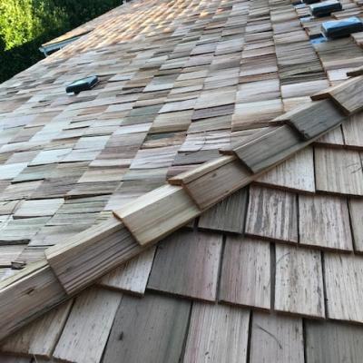 Roof Work - Wood Shakes