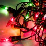 Jumbled ball of Christmas lights