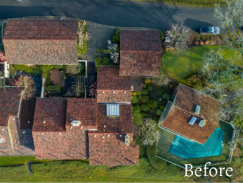 Aerial picture of a home