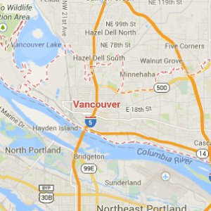 Map of Vancouver WA
