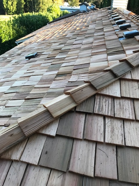 Roof Work - Wood Shakes