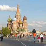Roof design in Russia is the famous Saint Basil's Cathedral in Moscow